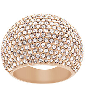 Swarovski rose gold-plated stone set crystal ring size Q - Product number 2270293