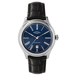 Rotary Men's  Blue Dial & Black Leather Strap Watch - Product number 2272172