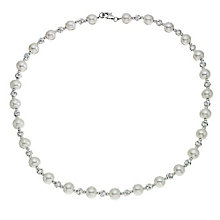 Silver & freshwater pearl strand necklace - Product number 2272601