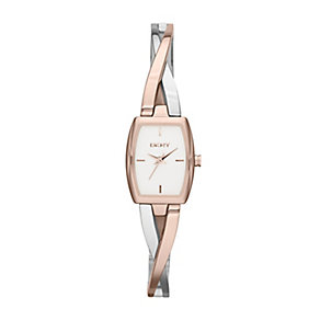 DKNY Ladies' Crosswalk Two Colour Semi Bangle Watch - Product number 2275600