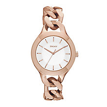 DKNY Ladies' Rose Gold Tone Ion Plated Bracelet Watch - Product number 2275791