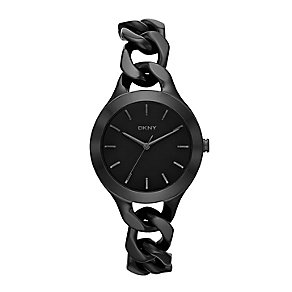 DKNY Ladies' Black Ion-Plated Fashion Watch - Product number 2275856