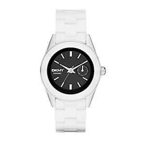 DKNY Ladies' Stainless Steel & Ceramic Bracelet Watch - Product number 2275864