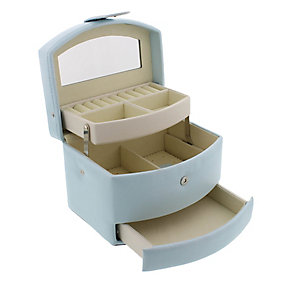 Duck Egg Blue Multi-Compartment Jewellery Box - Product number 2276364