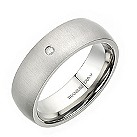 Titanium diamond men's ring - Product number 2277565