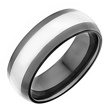Men's tungsten and black ceramic ring - Product number 2278588