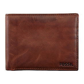 Fossil Carson Traveler brown leather wallet - Product number 2278839