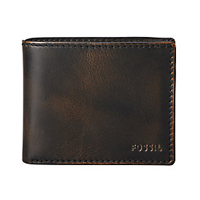 Fossil Carson Traveler black leather wallet - Product number 2278952