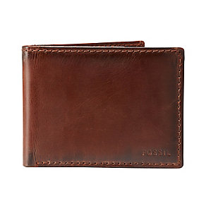Fossil Carson International slim brown leather bifold wallet - Product number 2278960