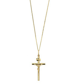 9ct yellow gold crucifix pendant - Product number 2278995