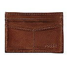 Fossil Carson slim brown leather credit card wallet - Product number 2279010