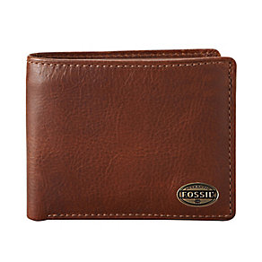 Fossil Estate cognac leather zip passcase - Product number 2279037