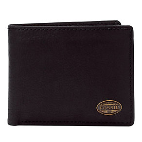Fossil Estate black leather zip passcase - Product number 2279045