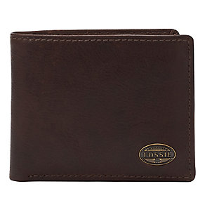 Fossil Estate brown leather zip passcase - Product number 2279053