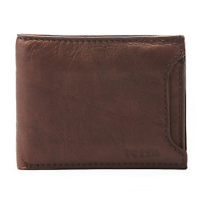 Fossil Ingram brown leather two-in-one sliding bifold wallet - Product number 2279118