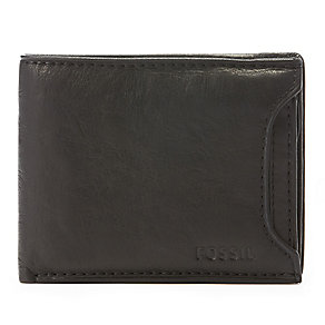 Fossil Ingram black leather two-in-one sliding bifold wallet - Product number 2279126