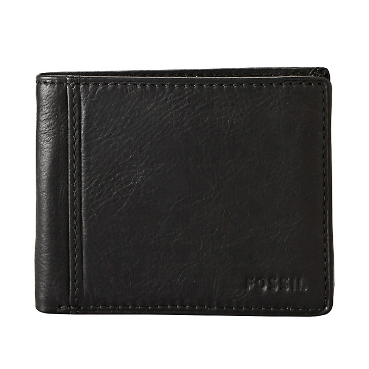 Fossil Ingram Traveler black leather bifold wallet - Product number 2279150