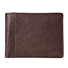 Fossil Ingram International Traveler brown leather wallet - Product number 2279169