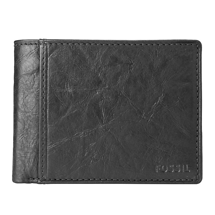 Fossil Ingram International Traveler black leather wallet - Product number 2279177