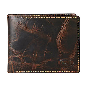 Fossil Norton Traveler brown leather bifold wallet - Product number 2279185