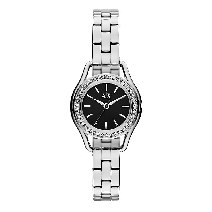 Armani Exchange Ladies' Stainless Steel Crystal Set Watch - Product number 2279568