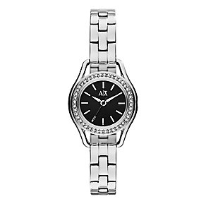 Armani Exchange Ladies' Stainless Steel Crystal Set Watch - Product number 2279568