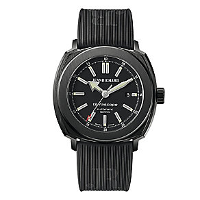 JEANRICHARD men's black rubber strap watch - Product number 2279614
