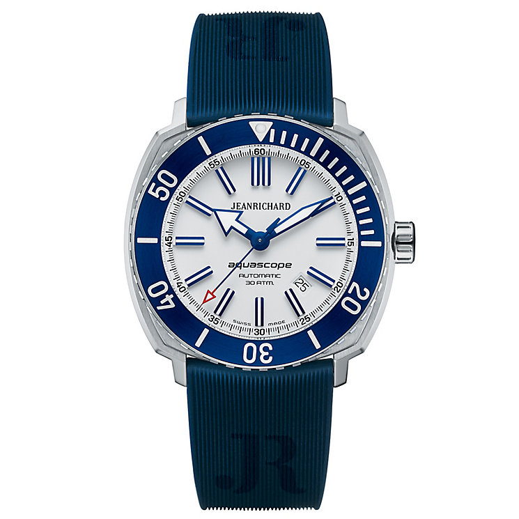 JEANRICHARD Aquascope men's blue rubber strap watch - Product number 2279746