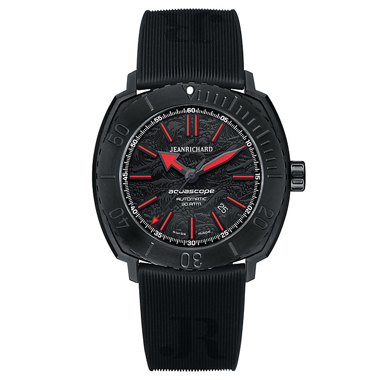 JEANRICHARD Aquascope men's black rubber strap watch - Product number 2279754