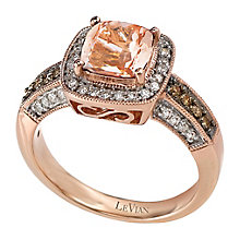Le Vian 14ct Strawberry Gold and Peach Morganite ring - Product number 2280590