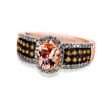 Le Vian 14ct Strawberry Gold and Peach Morganite ring - Product number 2280795