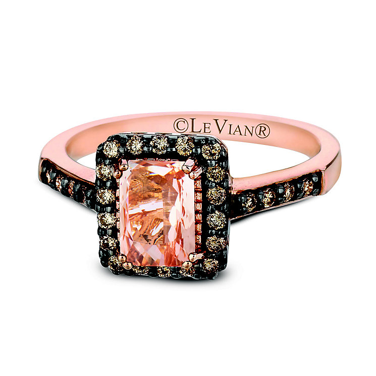 Le Vian 14ct Strawberry Gold and Peach Morganite ring - Product number 2281023