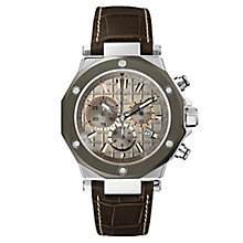 Gc men's brown leather strap watch - Product number 2283255