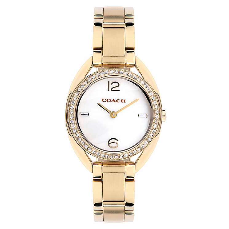 Coach ladies' gold-tone bracelet watch - Product number 2283697