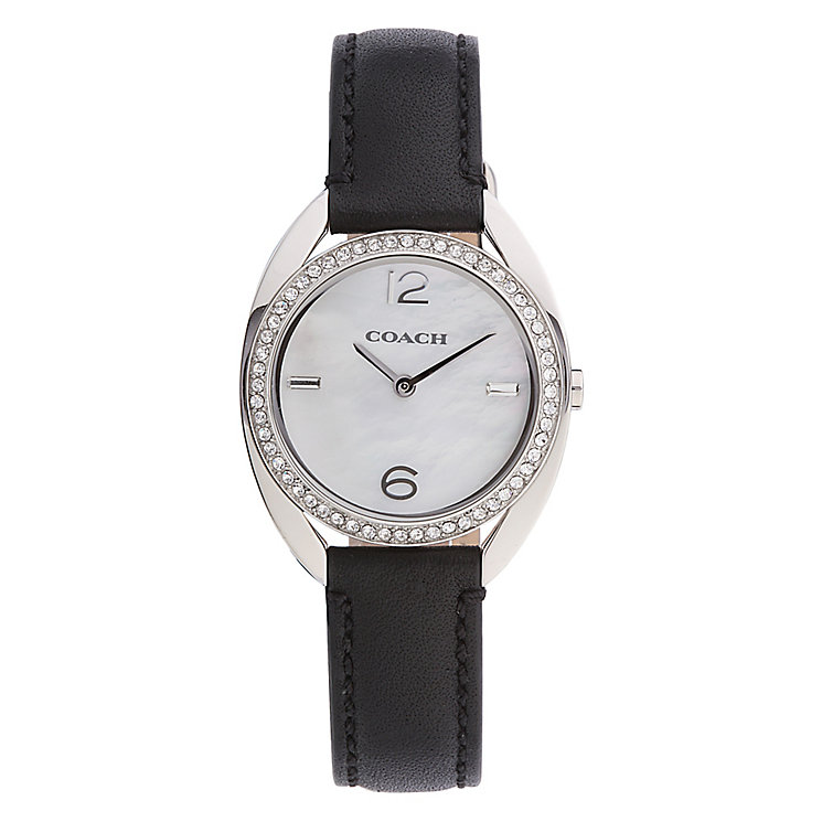 Coach Sam ladies' black leather strap watch - Product number 2283719