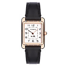 Coach Page ladies' black leather strap watch - Product number 2283743