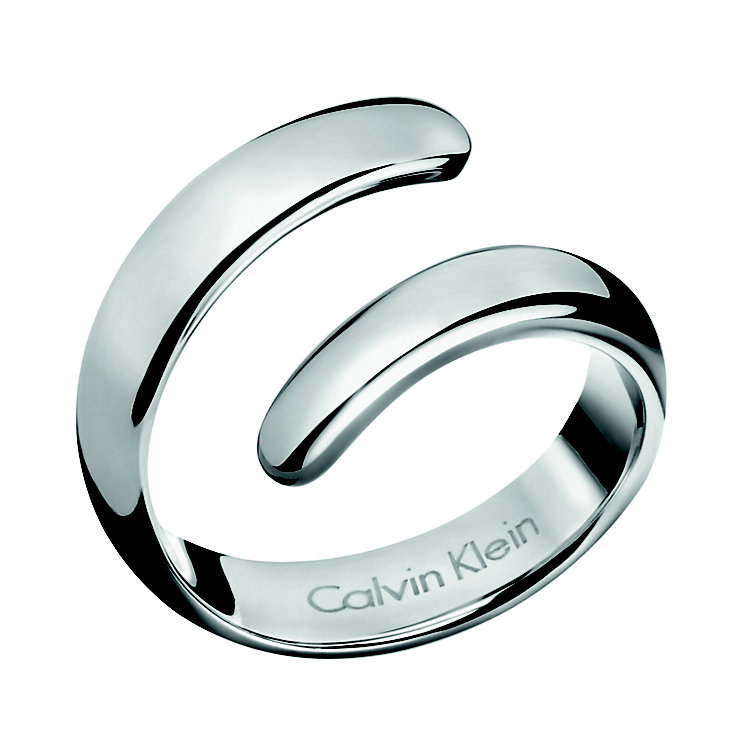 Calvin Klein Embrace stainless steel coil ring O - Product number 2284154