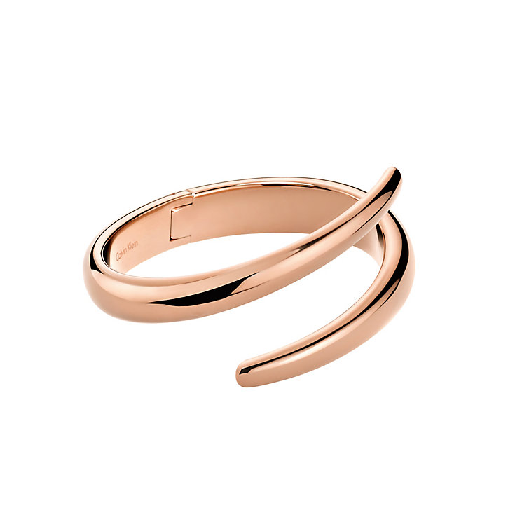 Calvin Klein Embrace rose gold-plated coil ring O - Product number 2284162