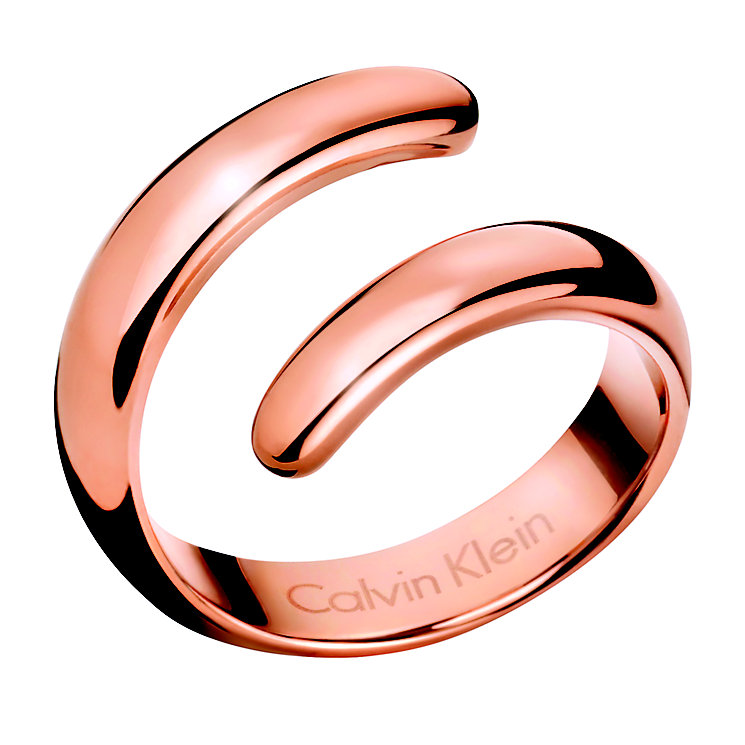 Calvin Klein Embrace rose gold-plated coil ring O - Product number 2284197