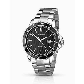 Sekonda Men's Black Dial & Stainless Steel Bracelet Watch - Product number 2284286