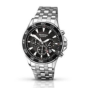 Sekonda Men's Black Dial & Stainless Steel Bracelet Watch - Product number 2284316