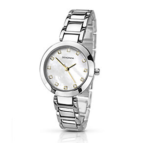 Sekonda Editions Ladies' Silver Tone Crystal Watch - Product number 2284375