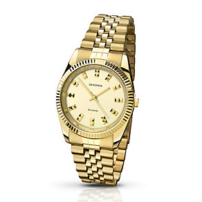 Sekonda Editions Ladies' Yellow Gold Plated Bracelet Watch - Product number 2284464