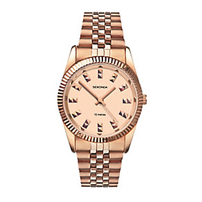 Sekonda Editions Ladies' Rose Gold Plated Bracelet Watch - Product number 2284499