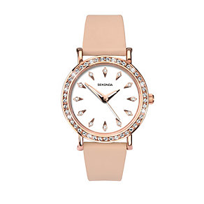 Sekonda Editions Ladies' Rose Plated Swarovski Element Watch - Product number 2284693