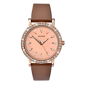 Sekonda Editions Ladies' Rose Plated Swarovski Element Watch - Product number 2284723