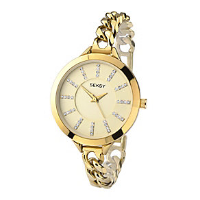 Sekonda Seksy Ladies'  Swarovski Elements Chain Watch - Product number 2284731