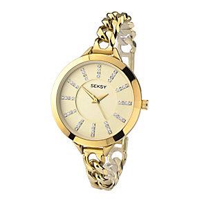 Sekonda Seksy Ladies'  Swarovski Elements Chain Watch - Product number 2284731