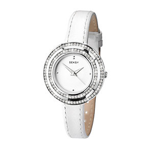 Sekonda Seksy Ladies' Swarovksi Elements White Leather Watch - Product number 2284774
