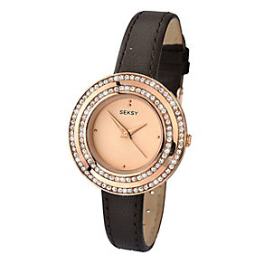 Sekonda Seksy Ladies' Swarovksi Elements Brown Leather Watch - Product number 2284782